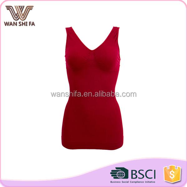Wholesale good quality wine red mature seamless push up body shaper bra