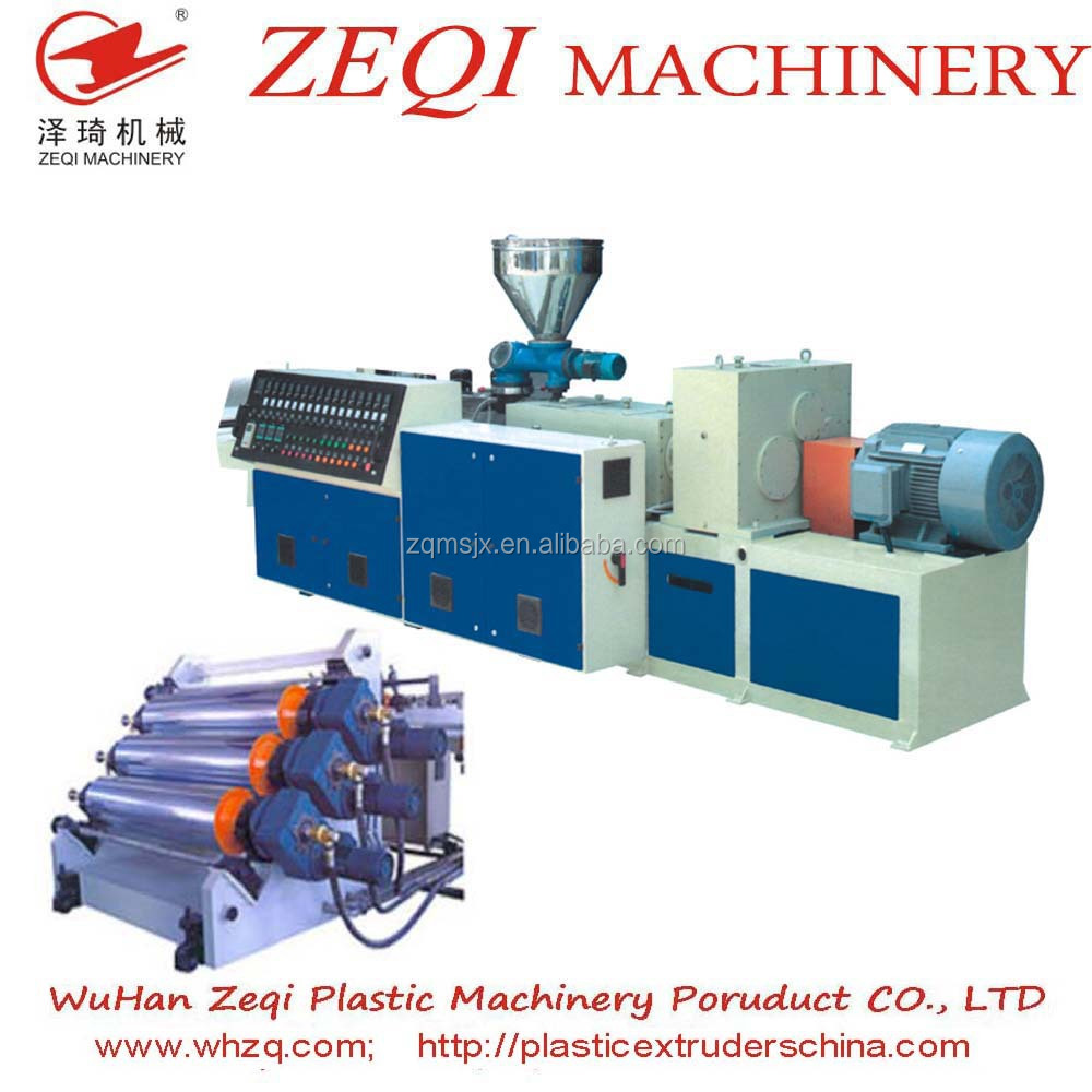 screw extruder production line for PP / PS / PE / ABS decorative board /sheet sale