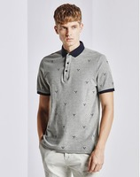 2016 latest design two-tone flip dot mens polo t shirts for youngers