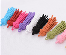 Korean style colorful small leather suede tassel for keychain clothing