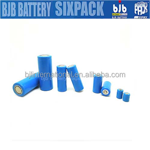 y Rechargeable 3.7V lithium battery pack 320mAh 10440 & lir 18650 cylindrical battery