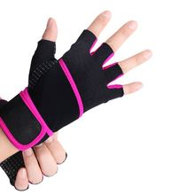outdoor gym equipment fitness gloves with elastic wrist support