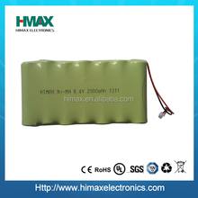 NiMH AA 9.6V 2000mAh rechargeable battery pack