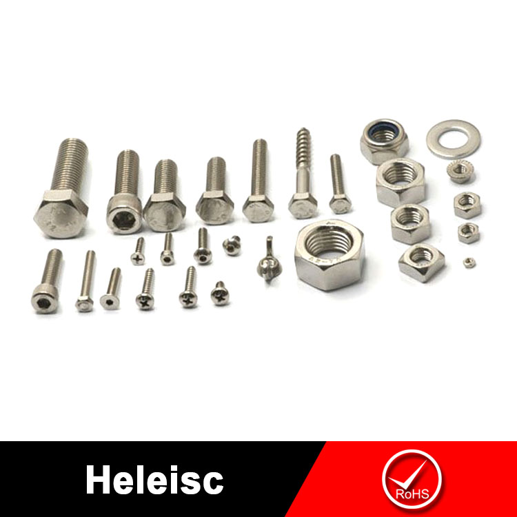 China manufacturer high quality grade 5 hex head bolt with nylon lock nut