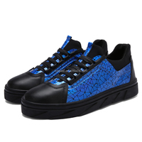 unique design special rubber outsole sex black and blue formal shoes men