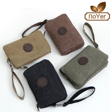 Manufacture student vintage canvas cell phone wallet long mens clutch wallet