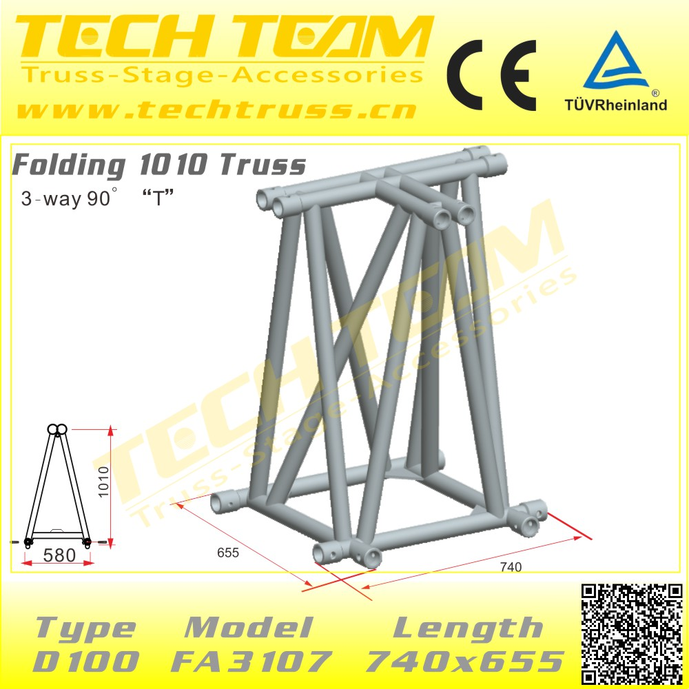 Lighting Tube Truss Structure Moving Head Lighting Aluminum Truss Stand