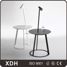 Modern high quality round metal coffee table with led light