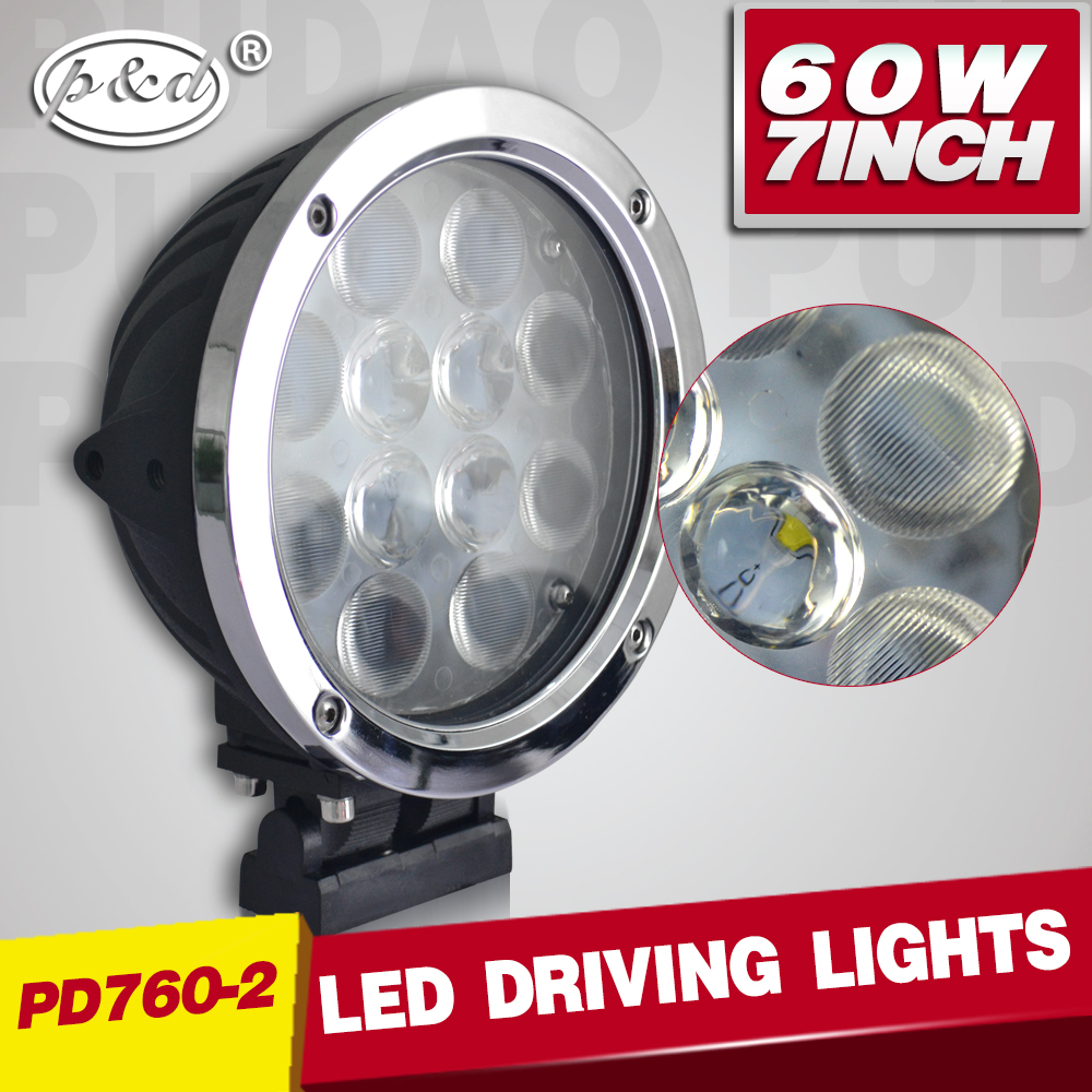 CE RoHS certification OEM accepted 7inch 60w round 7 inch led driving light for off road vehicle