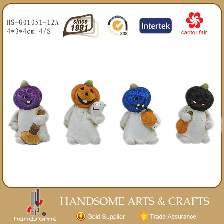 7cm Handmade China Art Supplies Small Gift Wholesale Halloween Craft Decoration Items Pumpkin
