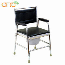 Steel commode chair for disabled people