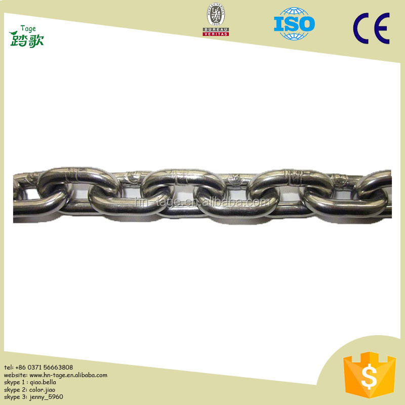 DIN 766 Welded Galvanized Stainless Steel Link Chain