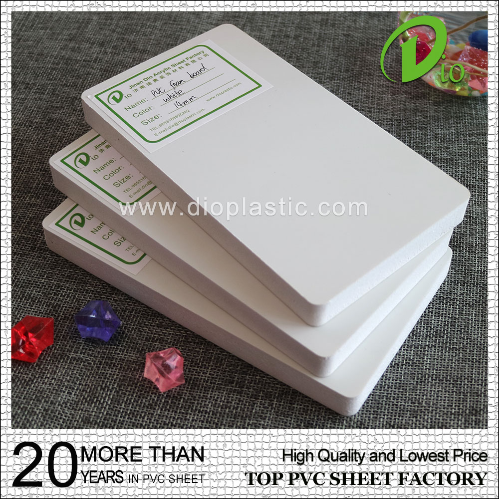 China supply co-extruded 13mm white pvc foam board for photo album