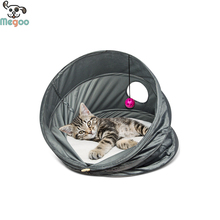 Four Season Use Cat Bed Functional Tunnel Cat Tent With Ball Cat Toys
