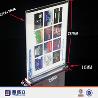 Customized High Transparency acrylic bed frame, acrylic picture frame holder stand display, stand up acrylic picture frames