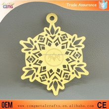 China etching metal crafts manufacturer supply cheap christmas ornaments wholesale