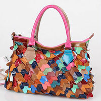 GL475 beauty product designer color collision leather stylish handbags