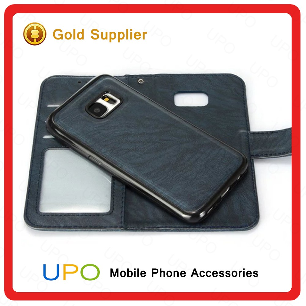 [UPO] 2016 Luxury Wallet Leather Card Slot Mobile Flip Leather Phone Case Cover for Samsung Galaxy S7