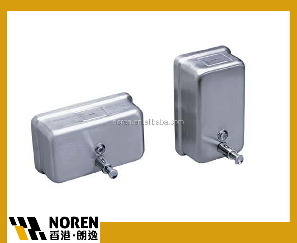 Wall mounted manual stainless steel liquid soap dispensers 500ml 800ml 1000ml