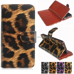 fashion leopard flip leather phone case cover with 12 card holders for samsung galaxy note s 4 5 6 7 edge i9200 n7000