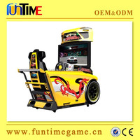 Entertaiment arcade simulation car driving machine, coin operated adults game