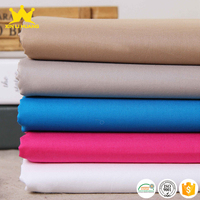 Hot Selling Plain Dyed 40x40 133x72 120gsm 100 Cotton Poplin Clothing Fabric