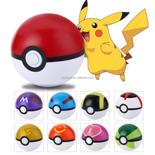 Wholesale Pokemon Ball Colorful Pocket Monster Stress ABS Proof Strong Ball Toy for Kids Pokemon Ball Toys