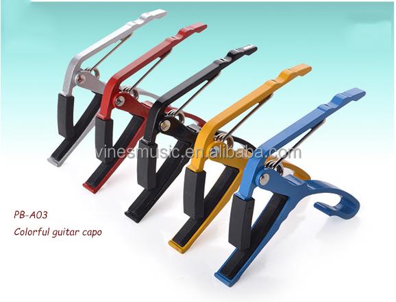 Alluminum Alloy guitar ,Color OEM guitar capo for sales (PB-A03)