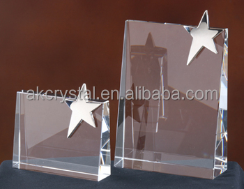 Best sales star shaped crystal blank awards and trophies