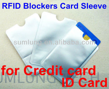 Secure Sleeve RFID Blockers Card Sleeve, IC ID secure card/ bag - Protect your Credit Cards & ID card!