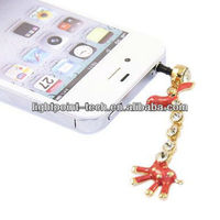 Hot selling Ear Cap 3.5mm dust Plug For Iphone