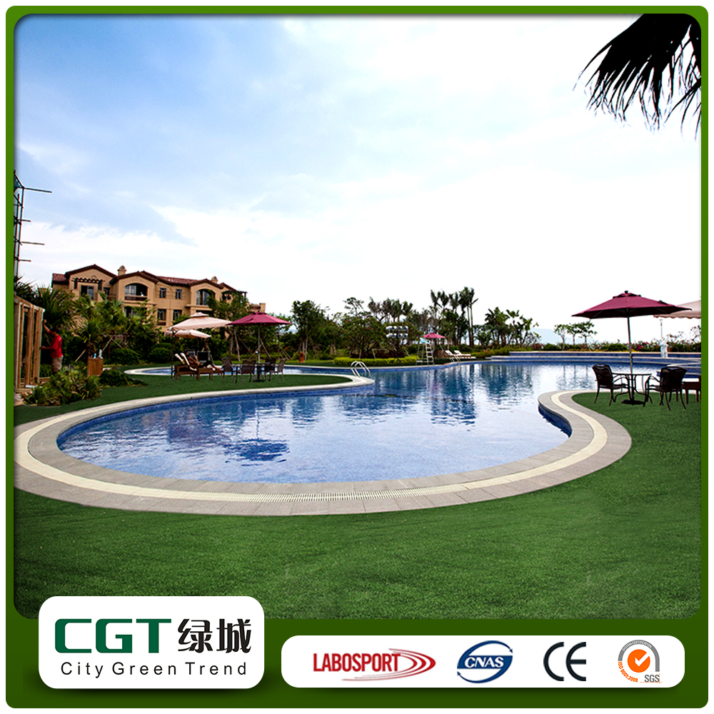 Plastic false roof artificial fake grass/synthetic turf crafts installation price