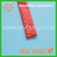 Red Shrink Tube With X Flocked Pattern for Fishing Rod