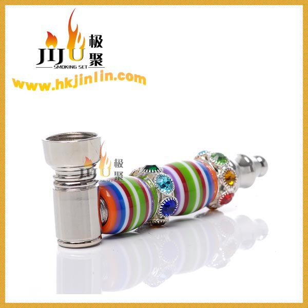 Whole Sale Alipay Allowed Good Metal Bone Pipes for Smoking