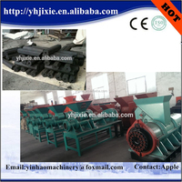 Coal making machine/charcoal briquetting press machine with CE approval