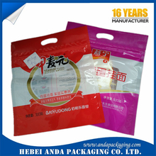 Instand noodles pasta wrapper metalized pasta film roll/ recycle pasta plain bag with zipper