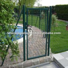 Factory Galvanzied and Power Coated metal fence gate