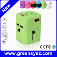 High end corporate gift logo worldwide travel adapter for traveling