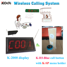 Wireless Restaurant Service Call System Menu Holder For Small Place Popular In Hotel Tea House Coffee