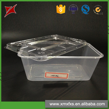 Newest design microwave disposable PP food plastic box with lid