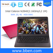 laptops prices in china intel N2840 quad core support windows 10 download free 14 inch laptop
