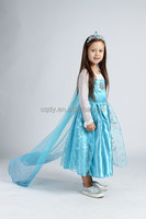 2015 korean fashion girl style childrens boutique clothing frozen elsa dress long sleeve wedding dress frozen dress