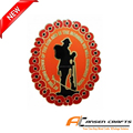 Hot sale cheap price custom lone soldier poppy pin with butterfly backside
