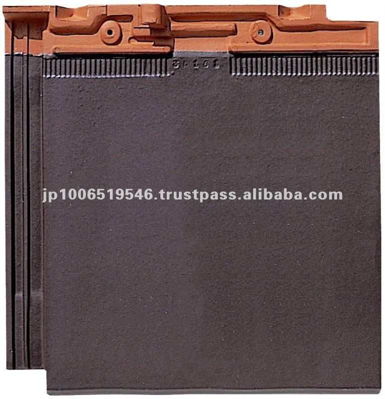 japan shinto / Colored roof tiles of modern design ( CERAM FF Brown color )