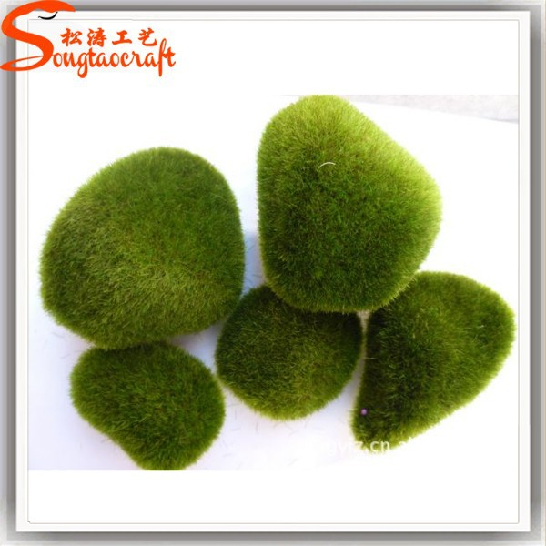 Artificial Moss crepe fabric artificial green moss for decoration