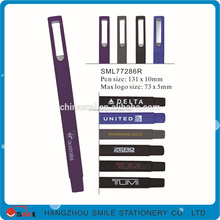 promotional advertisment function rubber touch slogan ball pen