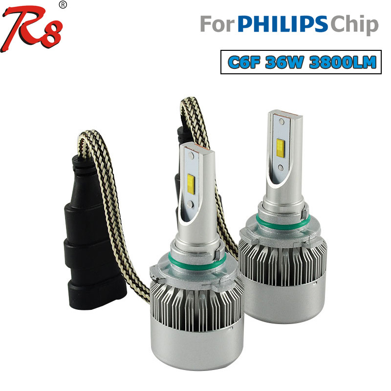 led kit car C6F 36W 3800LM 9005/9006 led lighting automotive technology led headlights for ram 1500 led car light store