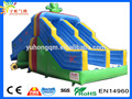 2017 new customize kids child frog pvc slide inflatable