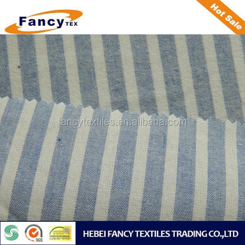 brushed cotton yarn dyed stripe fabric