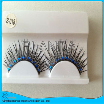 Party eyelash lady's eye lashes black eyelashes with diamond